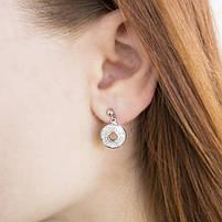 Серебряные сережки-гвоздики с фианитами Арт. ER002SV, фото 4