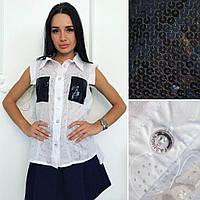Лёгкая воздушная блузка рубашка больших размеров