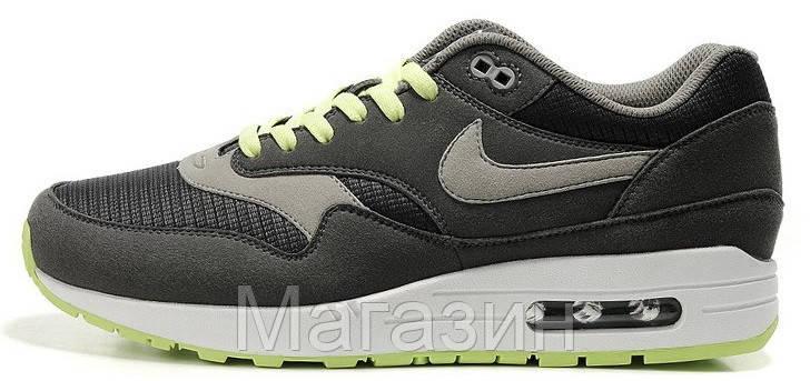 Мужские кроссовки Nike Air Max 87 (в стиле Найк Аир Макс 87) серые