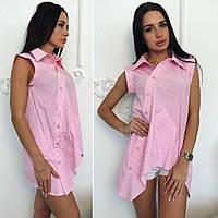 Лёгкая летняя воздушная блузка рубашка, фото 1