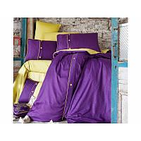 Комплект постельного белья Clasy Butik Pavene - Mor  сатин евро