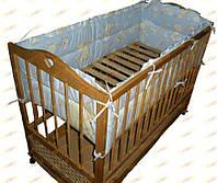Защита в детскую кроватку. 4 бортика. Х/б 100%