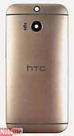 Задняя крышка HTC One M8, золотистая, оригинал (Китай)