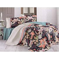 Набор постельного белья с покрывалом Clasy - Etna чёрный евро