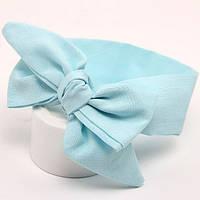 Детская повязка с бантиком на голову для девочки