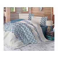 Набор постельного белья с покрывалом Clasy - Avonni бежевый евро