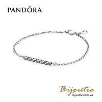 Pandora браслет СЕРДЦА ПАНДОРА #590513CZ серебро 925 оригинал