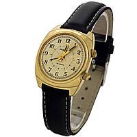 Poljot made in USSR 18 jewels позолоченные механические часы с будильником, фото 1