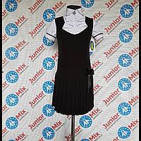 Школьный детский сарафан для девочек  чёрного цвета  TYLKOMET