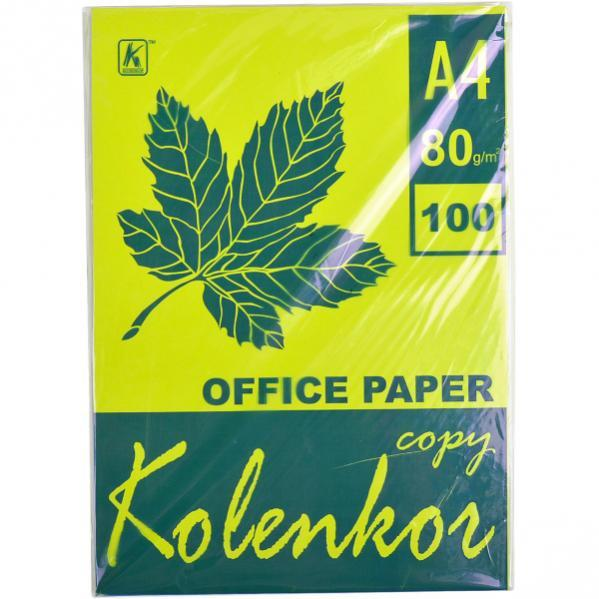 Бумага для ксерокса, А4 100 листов 80г/м² неон CYBER HP GREEN