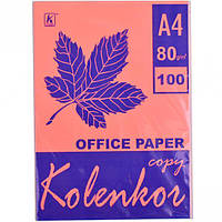 Бумага для ксерокса, А4 100 листов 80г/м² неон CYBER HP PINK