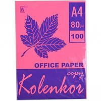 Бумага для ксерокса, А4 100 листов 80г/м² неон CYBER HP RED