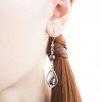 Сережки с гранеными подвесками Арт. ER093SL, фото 3