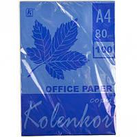 Бумага для ксерокса, А4 100 листов 80г/м² интенсив COBALT