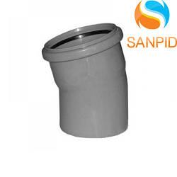 Колено для внутренней канализации Wavin 110/30°