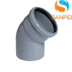 Колено для внутренней канализации Wavin 110/45°