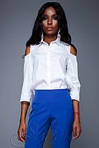 Женская рубашка с открытыми плечами (Бриллиjd), фото 3