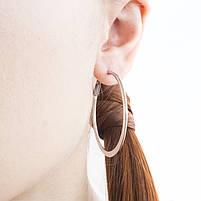 Сережки-кольца серебристые Арт. ER087SL, фото 4