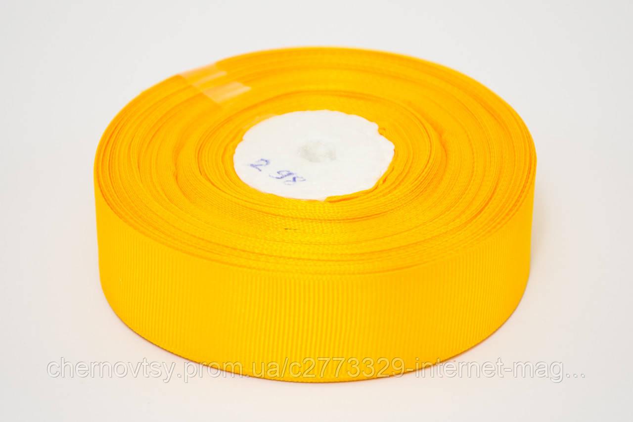 Лента репс 0.6 см, 23 м, № 298 желто горячий
