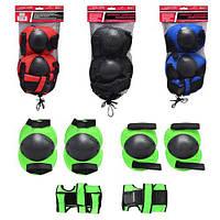Защита комплект для роликовых коньков,скейтов,самокатов : наколенники,налокотники,для рук ms 0032 Profi