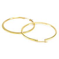 Сережки-кольца золотистые диаметр 46мм Арт. ER088SL, фото 2