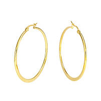Сережки-кольца золотистые диаметр 46мм Арт. ER088SL, фото 3