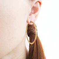 Сережки-кольца золотистые диаметр 46мм Арт. ER088SL, фото 4