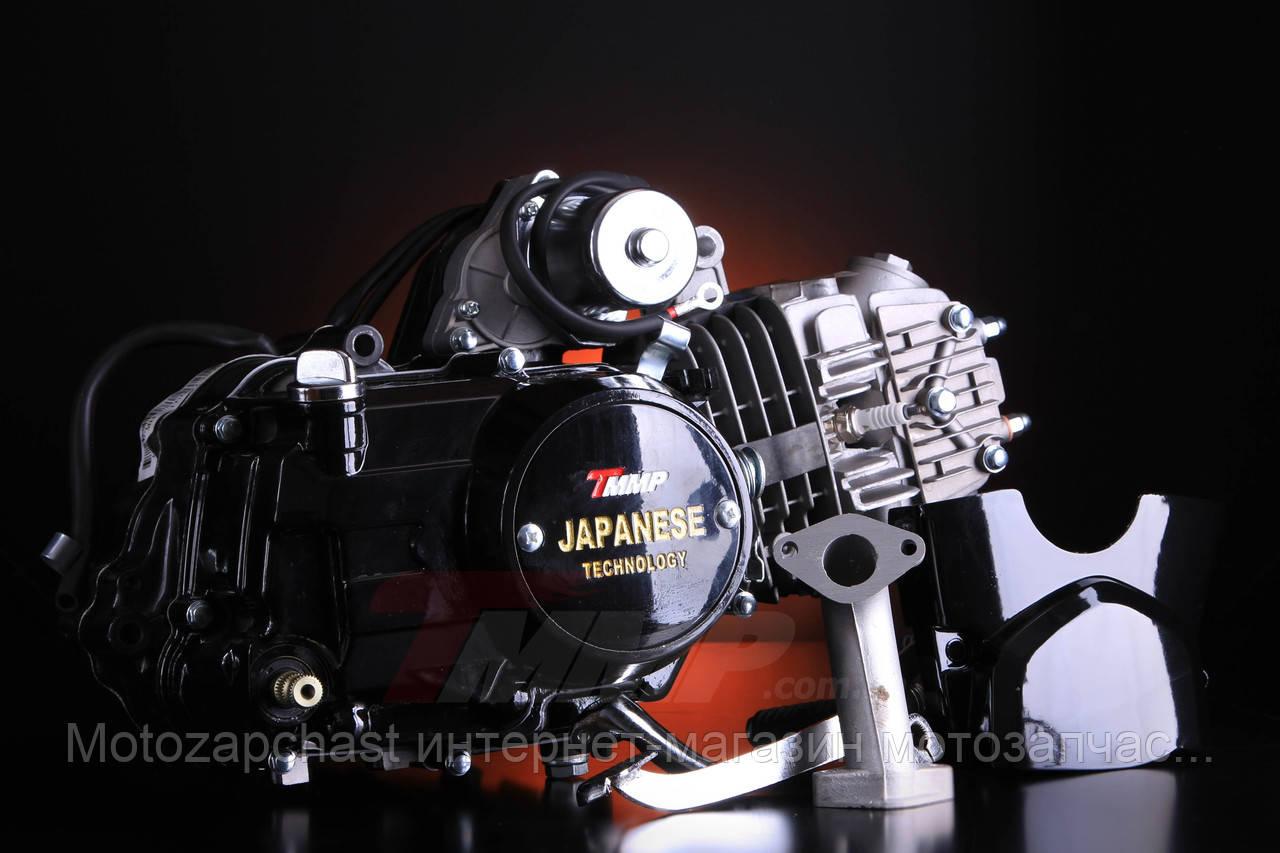 Двигатель АЛЬФА Дельта-125 алюминиевый цилиндр механика чёрный NEW