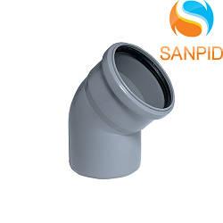Колено для внутренней канализации Wavin 110/22°