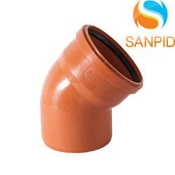 Колено для наружной канализации Wavin 160/15°