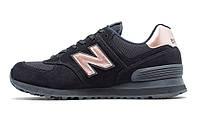 New Balance 574 Black With Steel. Женские кроссовки New Balance. Стильные кроссовки.