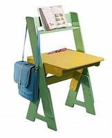 Детская деревянная парта с надстройкой (растущая) ТМ SportBaby Цветной П-1+ Н-1