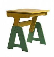 Детская деревянная парта - растишка для дома (без пенала) ТМ SportBaby Цветной П-1