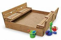 Детская деревянная песочница с лавочками-трансформерами (сосна) ТМ SportBaby Натуральное дерево Песочница - 3