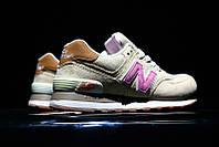 New Balance 574 Tan/Pink. Женские кроссовки New Balance. Оригинальны кроссовки.