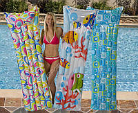 Пляжный надувной одноместный матрас Intex 59720 3 цвета 183x69 см