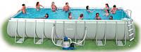 Каркасный прямоугольный бассейн Intex 54980 насос + фильтр 732x366x132 см 28364