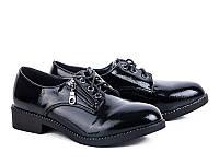 Женская осенняя обувь. Туфли на шнуровке оптом от фирмы Бабочка 25-82 (8пар 36-41)