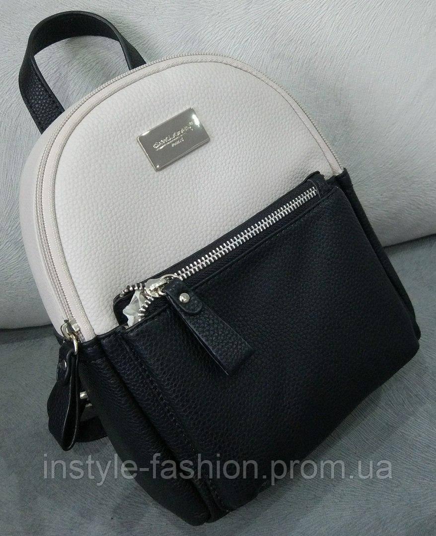 Модный и стильный рюкзак David Jones классик цвет черный  купить ... 3a9c209a499