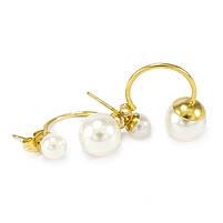 Сережки-гвоздики в стиле Dior мини белые Арт. ER028SL, фото 2