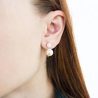 Сережки-гвоздики в стиле Dior мини белые Арт. ER028SL, фото 5