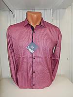Рубашка мужская Enisse длинный рукав, под шелк, стрейч, заклёпки узор №1  002\ купить рубашку