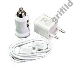 Оригинальный Комплект зарядки для iphone ipod Apple 3 в 1 iphone 3, 4, 4g ipad