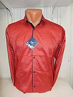 Рубашка мужская Enisse длинный рукав, под шелк, стрейч, заклёпки узор №2  003\ купить рубашку