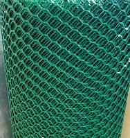 Сетка заборная садовая мелкий ромбик ячейка 10х10,ширина 1м, длина 30м, цвет зелёный и салатовый