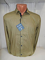 Рубашка мужская Enisse длинный рукав, под шелк, стрейч, заклёпки узор №3  002\ купить рубашку