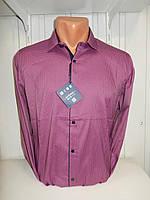 Рубашка мужская Enisse длинный рукав, под шелк, стрейч, заклёпки узор №4  001\ купить рубашку