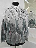 Блуза женская рубашечного типа белая большого размера
