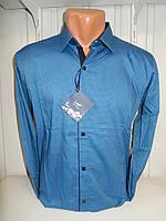 Рубашка мужская Enisse длинный рукав, под шелк, стрейч, заклёпки узор №5  001\ купить рубашку