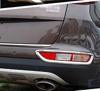 Kia Sportage KX5 Mk4 2015+ хром накладки на задние противотуманные фонари V2